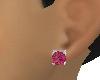 Woman Burgandy Ear studs