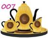 007 Sunflower Tea set