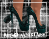 [A]SpikedHeelsW/Bow~Teal