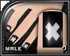 m.. Black X Nails