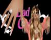 designe nail pink