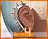 ! Rose Gold Ear Spikes