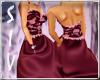 Burgundy Lace Ballgown