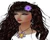Daisy hair fleur purple