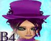 *B4* Purple BurlesqueHat