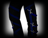 Black /Blue Goth Pants