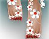 ::Z::Feet Red flowers