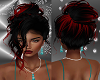 FG~ Red Black Updo