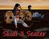 Skull 3 Seater