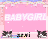 ♡ babygirl sign ♡