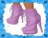 BSU Pink n Silver Boots