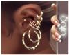 S! Earrings Gold