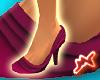[M] Ruffle Shoe Burgundy