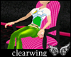 CW Stripy Pink Chair