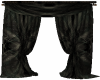 Black  Curtain w/ Drape