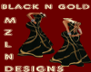 BLK N GOLD DRESS