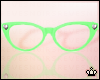 Green Cateye Glasses