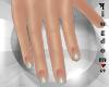 Natural nails w green