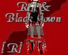 Red & Black Bat Gown