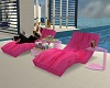 Pink Chaise Lounger