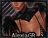 [A] Feather Colar Black