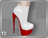 Nurse Red White Boot