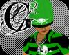 (90E) Green Rodulf Skull