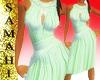 {S} Chiffon dress Green