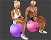 Gym Ball Seat Pink Purpl