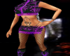 purple designer dress$bo