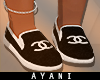 A- Coco Chanel BLK Shoes