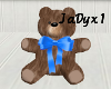 Blue Bow Teddy Bear