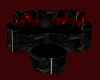 Black&Red cuddle couch