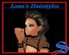 Grey brown ponytail