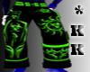 *KK Toxic Green Baggys