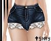 S~ Lace Shorts Dark