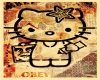 Obey Hello Kitty Poster