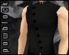 POW Black Mock Vest