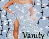 Long Silver Glitter Gown