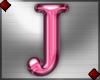 Pink Letter J