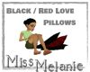 Black / Red Love Pillows