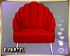 ღ Red Scallop Chair