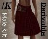 !K! Men's Red Kilt