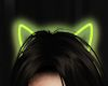 neon yellow kitty ears