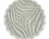 :3 Silver Rnd Tiger Rug