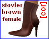 [cor] Brown stovler Fem