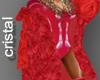Beyonce en rojo fur