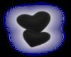 Black Glow Hearts