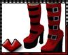 (V) Goth Red Platforms
