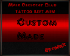 Male Crescent Clan tat